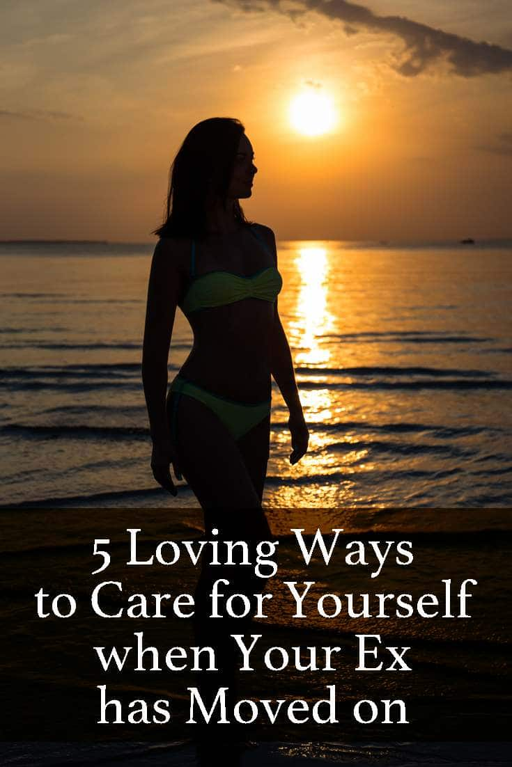 Learn how to care for yourself when your ex has moved on.
