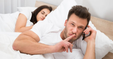 man betraying his wife