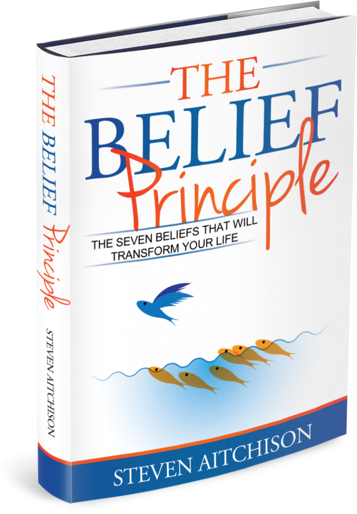 an image of the book cover for the Belief Principle by Steven Aitchison