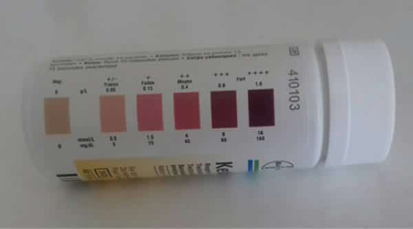 image of ketosis test strips