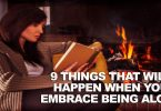 embrace being lone woman sitting reading a book for fireside