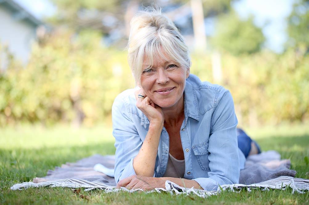 image of happy older woman singlew