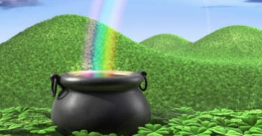 image of pot at the end of a rainbow