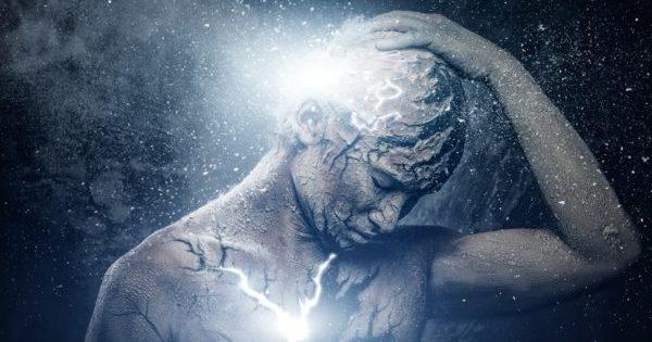 Man with spiritual body art