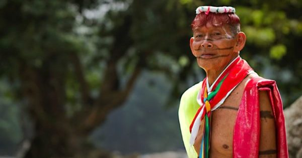 Shaman from the indigenous group of Santo Domingo |