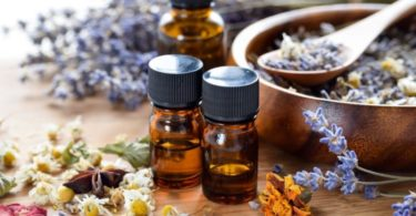 Essential oils with dried herbs