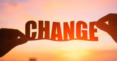 Silhouette of change word