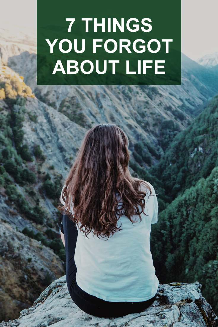 Here is a small list of some things you forgot about life that just may give you an a-ha moment and seize life like you did when you were young and fearless