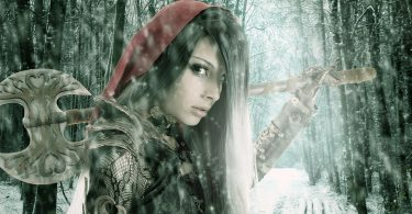 image of warrior red riding hood