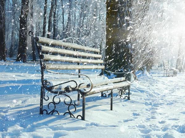 winter-bench