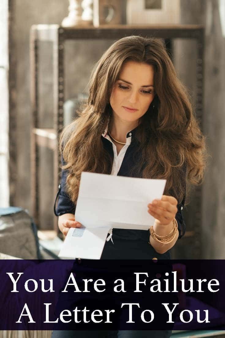 If you feel like a failure, read this...